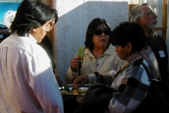 Major of San Pedro attending journalists