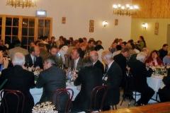 Guests enjoying inauguration dinner