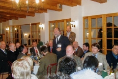 Lars-Ake Nyman talking to guests