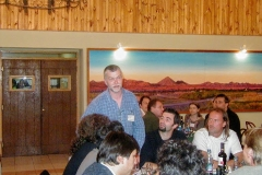 M. Anciaux talking to guests