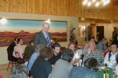 R. Güsten talking to guests