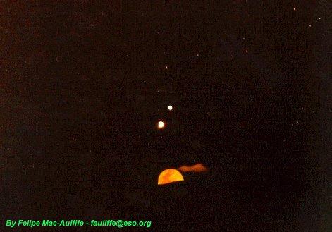 Venus - Jupiter - Moon Conjunction Pictures Gallery